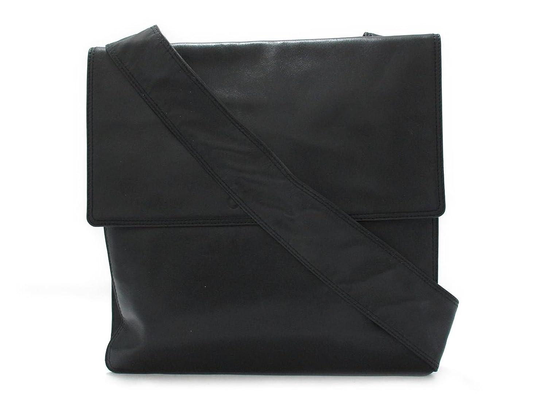 [シャネル] CHANEL CHANEL ロゴ ショルダーバッグ ブラック (ブラック金具) 牛革(カーフ) [中古] B07DCWC9C6