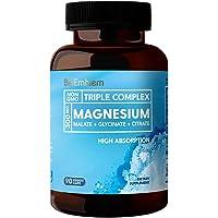BioEmblem Triple Magnesium Complex 300mg of Magnesium Glycinate, Malate, & Citrate (90 Capsules)