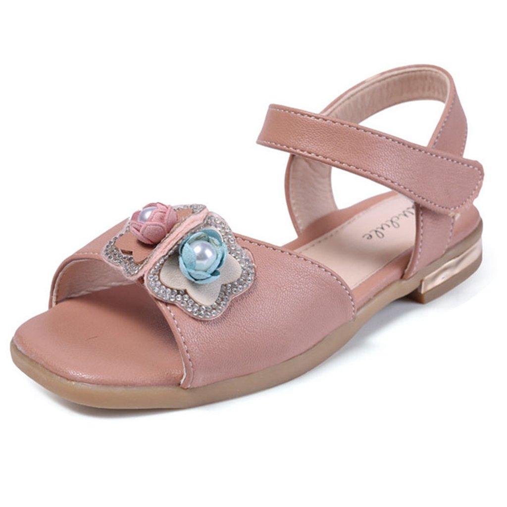Girls Summer Open Toe Sandals Glitter Flower Hot Water Anti-Slip Casual Sandal(Toddler/Little Kid) by GIY
