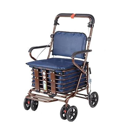 YLLXX Scooter Para Ancianos Scooter Para Mayores El Carrito Plegable Para Compras Puede Tomar Carrito De