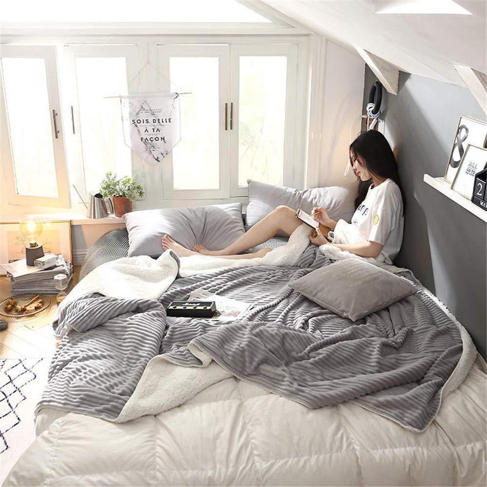 180200cm WANMT Blankets Plush blanket quilt air conditioning blanket summer single thickening student blanket winter double blanket, 180  200cm Throws