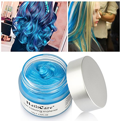 HailiCare Blue Hair Wax 4.23 oz, Professional Hair Pomades, Natural Matte Hairstyle Max for Men Women, New Glass Jar (Blue) for $<!--$12.99-->