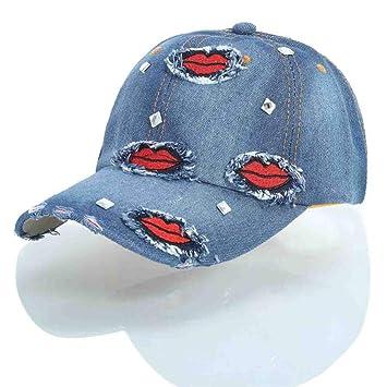 QEERT Visera Denim Street Hip-Hop Sombreros para Mujer Gorras de ...