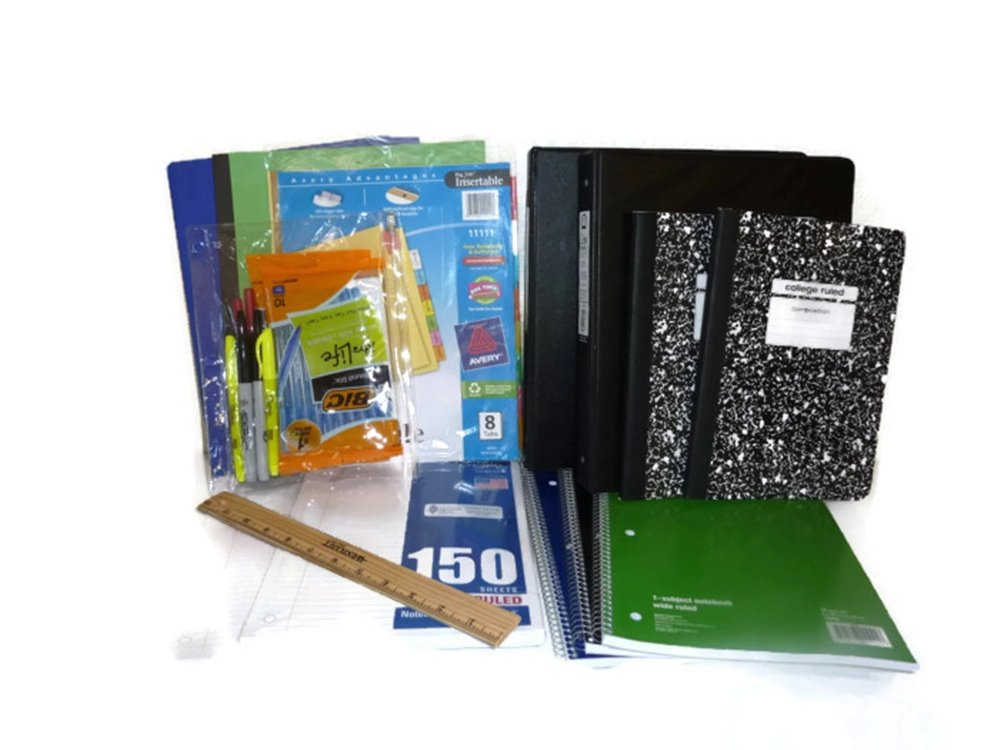 Back to School Supplies Set for High School and College Many