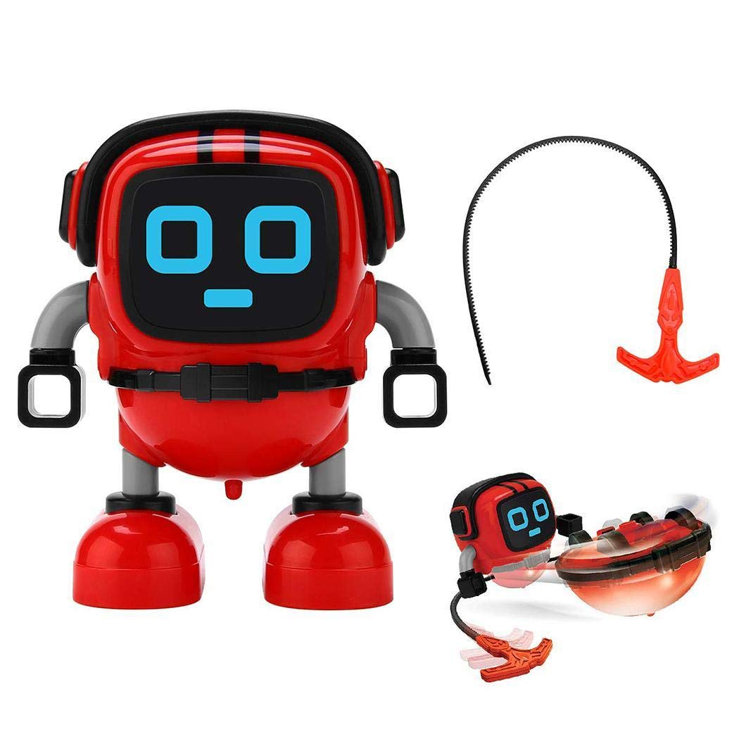 Children Durable Cute Robot Shape Wind-up Toys Clockwork Toy (Red)