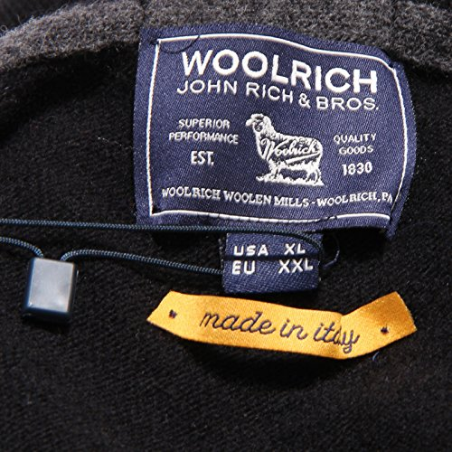 Wool neck Nero V Sweater Black 1219v Woolrich Lana Maglione Uomo Men xqfFxTXA
