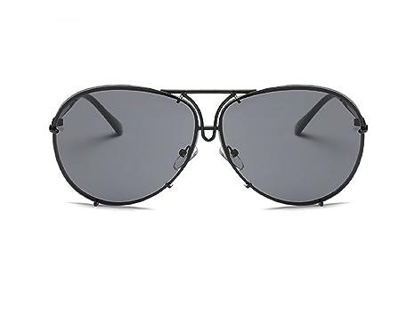 d516334d887 PetHot Unisex Mirrored Sunglasses Oversized Aviator Reflective Huge Luxury  Retro Vintage Metal Frame Glasses Flat Top for Women Men Travel Black  Framed ...