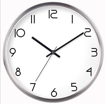 ZHANGHAOBO Reloj De Pared Redondo Silencioso Relojes De Pared Digital Relojes De Pared Reloj De Pared Reloj Moderno Reloj De Cuarzo,A2-10英寸: Amazon.es: ...