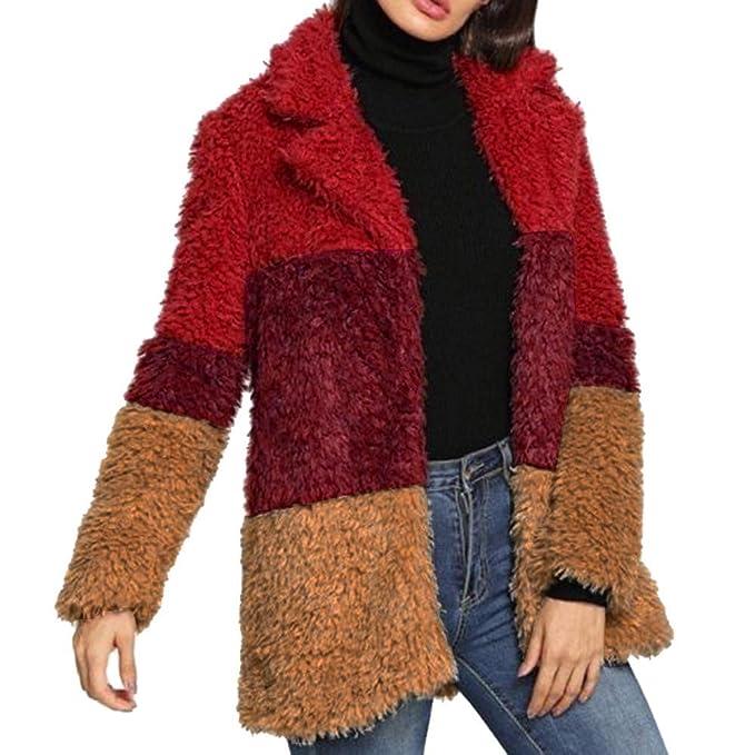 Abrigos de otoño Invierno, Dragon868 Colorflu Damas de Piel sintética Informal cálido Invierno Abrigos: Amazon.es: Ropa y accesorios