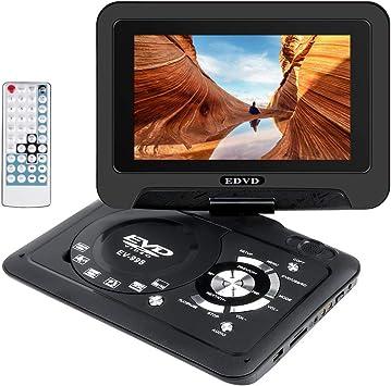 Wimaha Reproductor de DVD Portatil HDMI Todas Las regiones Soporte Gratuito Tarjeta SD Unidad de Disco