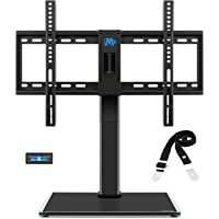 Universal Tabletop TV Stand/TV Mount with Anti-Tip Strap and 3 Sets Height Adjustment, for Most 42-60 Inches LED, LCD…