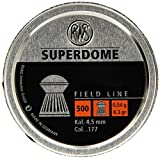 Umarex RWS Superdome 2317378 Field Line 8.3 Grain Air Gun Pellets, 0.177 Caliber, Silver