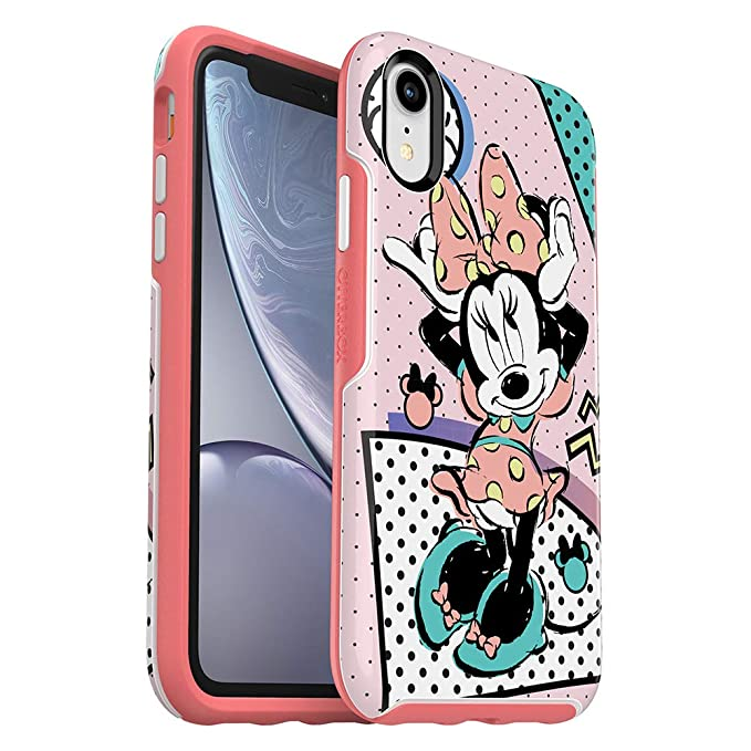 finest selection a6690 a2668 OtterBox Symmetry Series Disney Totally Disney Case for iPhone XR - Retail  Packaging - RAD Minnie (White/Flamingo Pink/RAD Minnie Graphic)