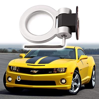 Xotic Tech Car Decoration JDM Track Racing Stick On Towing Hook Ring Look Decor for Car Trunk - Silver: Automotive