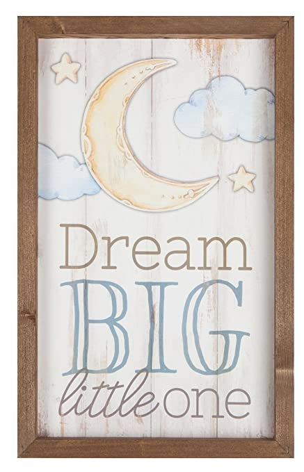 Amazon.com: Dream Big Little One Moon Stars 11.5 x 18 Wood Farmhouse ...