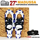 New MTN Extreme Lightweight All Terrian Man Woman Kid Teen Snowshoes up to 255 lbs /Free Bag - BLUE (27'' inch)