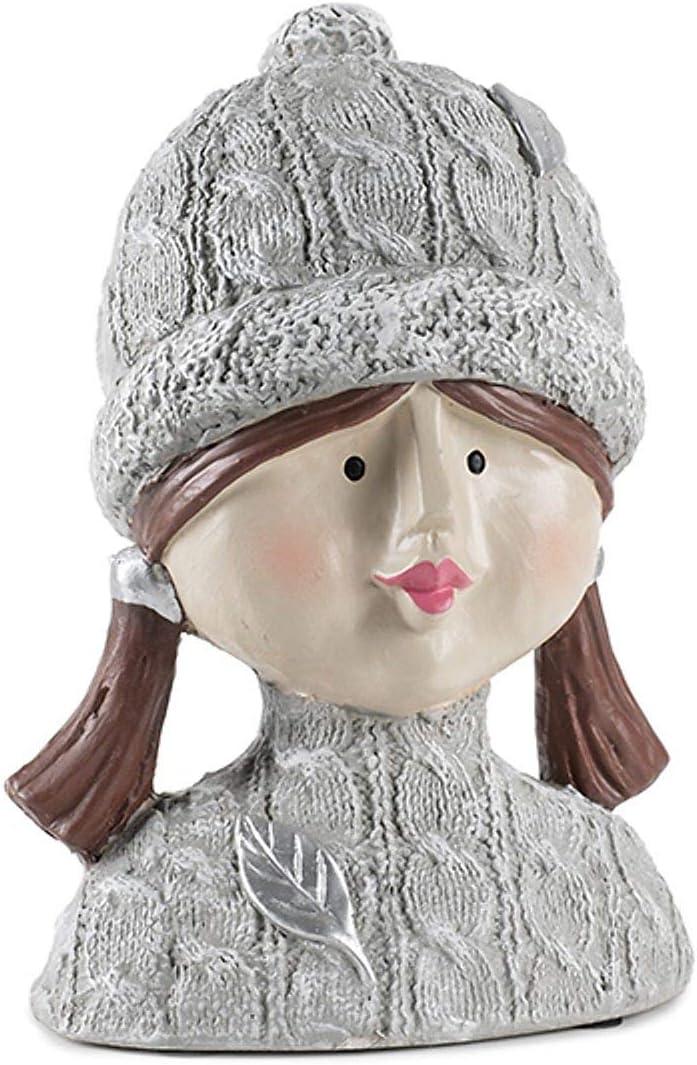 Baden Scultura Decorativa a Forma di Testa di Barboncino con Testa di Donna