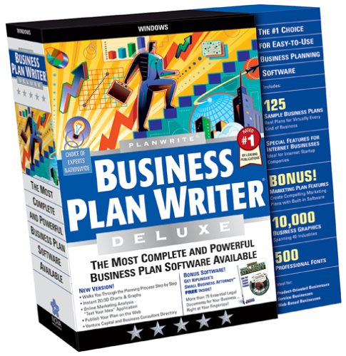 planwrite business plan writer deluxe 2006