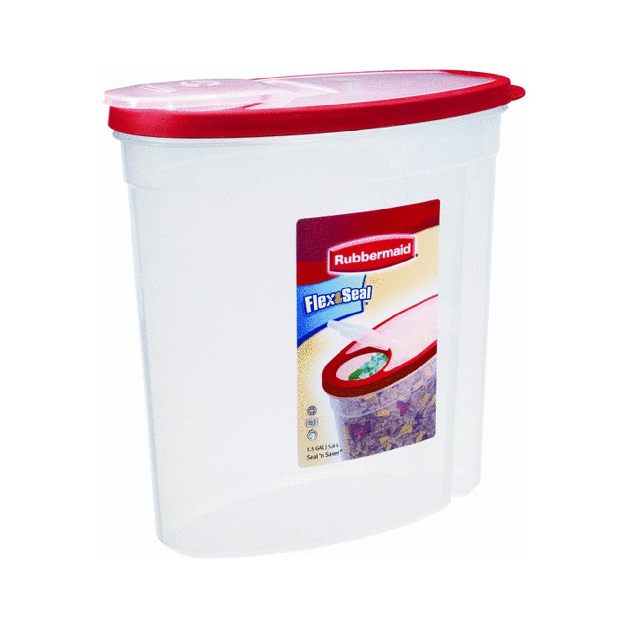 Rubbermaid Home Cereal Keeper Clear/ Red (1.5 Gal) - 1783748