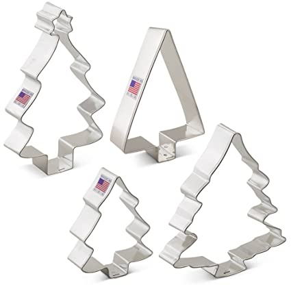 christmas holiday tree cookie cutter set 4 piece ann clark cookie cutters