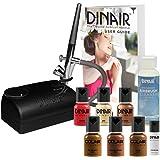 Dinair Airbrush Makeup Basic Kit - Choose Color Fair, Medium, Tan, or Dark