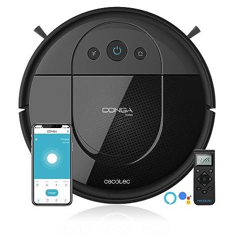 Cecotec Robot Aspirador Conga Serie 1690 Pro. 2700 Pa, Tecnología de Sensor Óptico iTech SmartGyro Eye, App con Mapa, Aspira, Barre, Friega y Pasa la ...