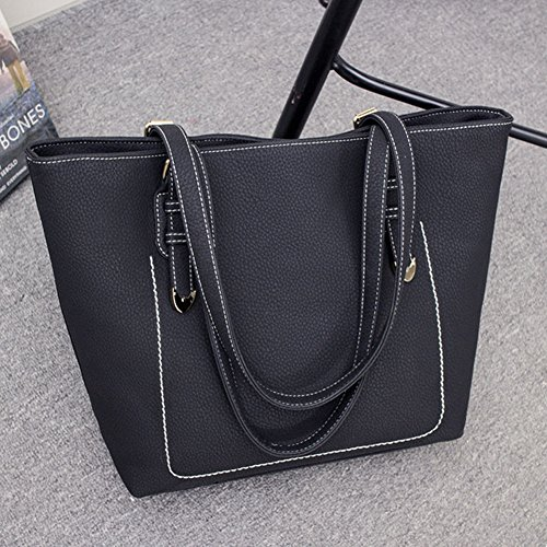 Borse A Mano Donna Shopping Bag Borsa Borsa A Tracolla Tote Borsetta Nero