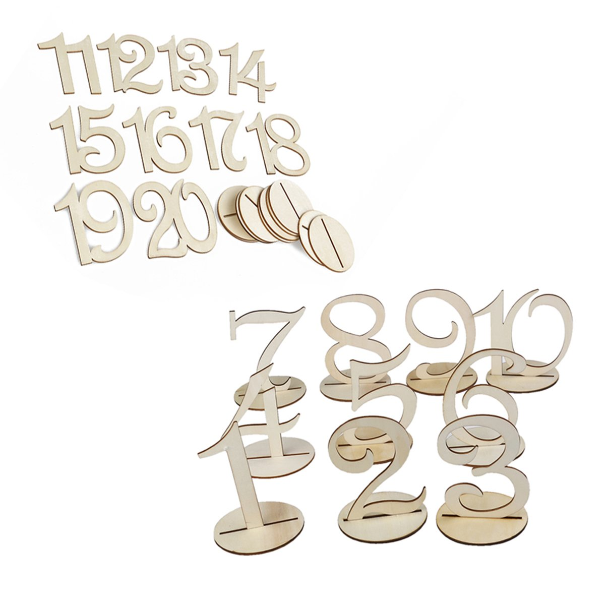 1-20 Numbers Wedding Table Numbers for Birthday Wedding Party Hotel Tables Decoration