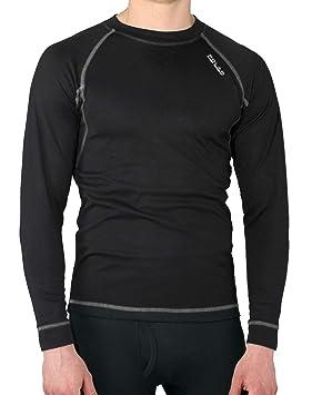 Camiseta térmica para hombre de manga larga, ideal para deportes de invierno (esquí,