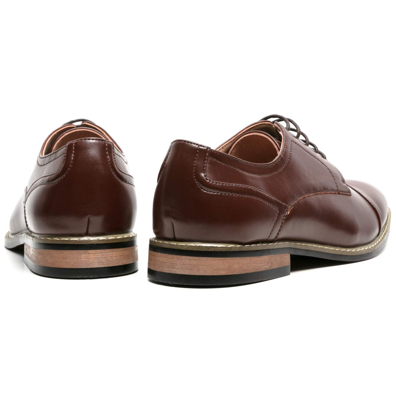 ZRIANG Mens Classic Cap Toe Lace-up Oxford Dress Shoes