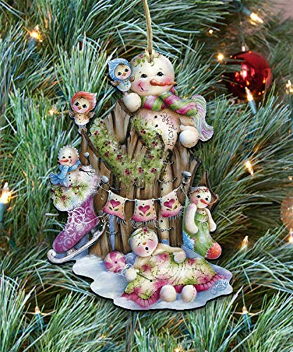 Christmas ornaments - Wooden Christmas Tree Ornaments - Christmas Decorations for Holiday by Jamie Mills-Price 8457502]()