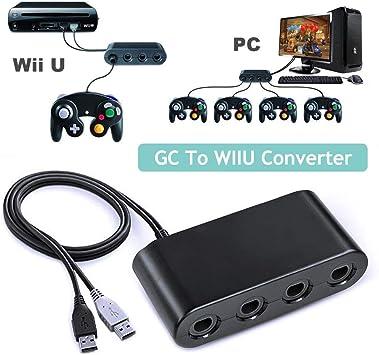 CaaWoo - Adaptador de Controlador Gamecube NGC para Wii U, Nintendo Switch y PC USB: Amazon.es: Electrónica