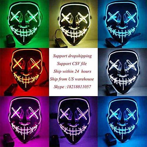 DSWIME Halloween EL Máscara Purga Máscaras Elección Máscara ...