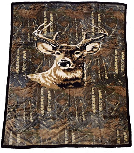 60-x-80-blanket-comfort-warmth-soft-cozy-air-conditioning-easy-care-machine-wash-deer-camo