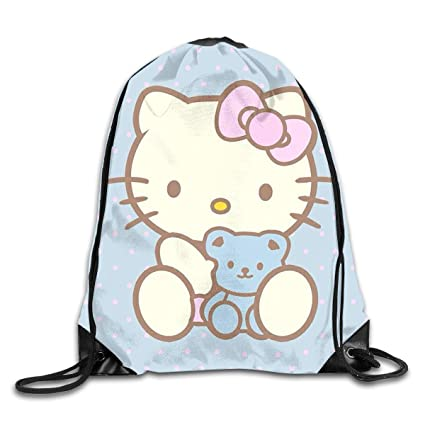 0fb1208504 Image Unavailable. Image not available for. Color  LIUYAN Drawstring  Backpack Hello Kitty ...