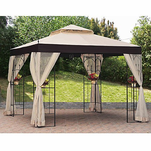 Garden Winds Replacement Canopy And Netting For The Athena Gazebo Riplock 350 Ebay