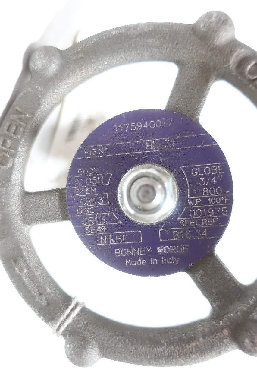 BONNEY FORGE HL 31 Manual Steel Globe Valve 800 3//4IN NPT