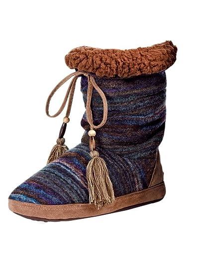8662b9d4bfa09 Blazin Roxx Women's Ava Woolen Mayan Blanket Slippers, Multi Faux Fur,  Knit, ...