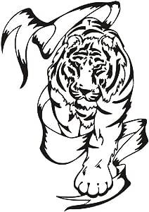 Tigre tribal pegatinas de pared para sala de estar decoración Animal impermeable extraíble tatuajes de pared Posters Wallpaper decoración para el hogar 60 cm X 43 cm: Amazon.es: Bricolaje y herramientas