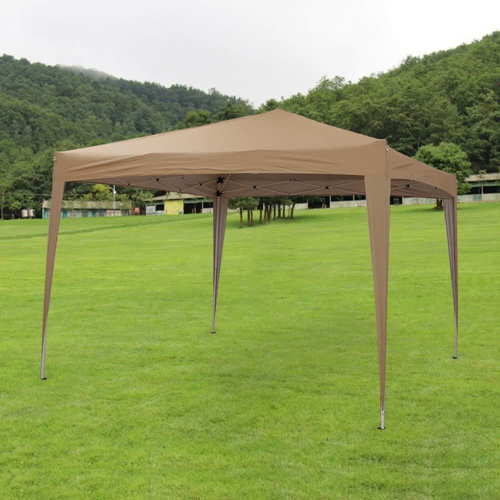 Beige Carpas Cenadores Tubos de 3x3m para Jard/ín Terraza Fiesta Eventos Cumplea/ños Bodas Pabell/ón Gazebo Plegable Impermeable PE Panana
