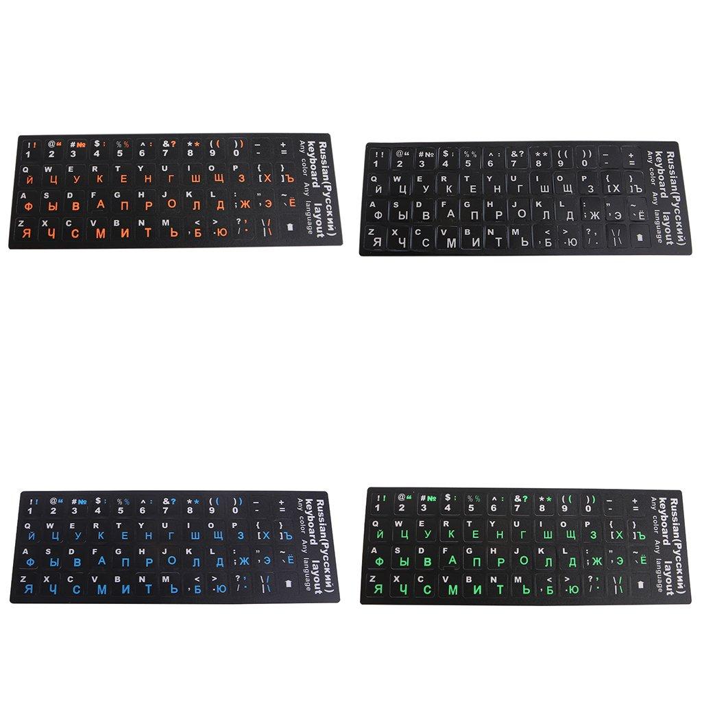 Silikonschutz Tastaturschutz Farbe transparent gr/ün gr/ün 18/×6.5cm russische Tastaturabdeckung PVC farbenfroh A0127 Selbstklebender Tastaturschutz wasserdicht