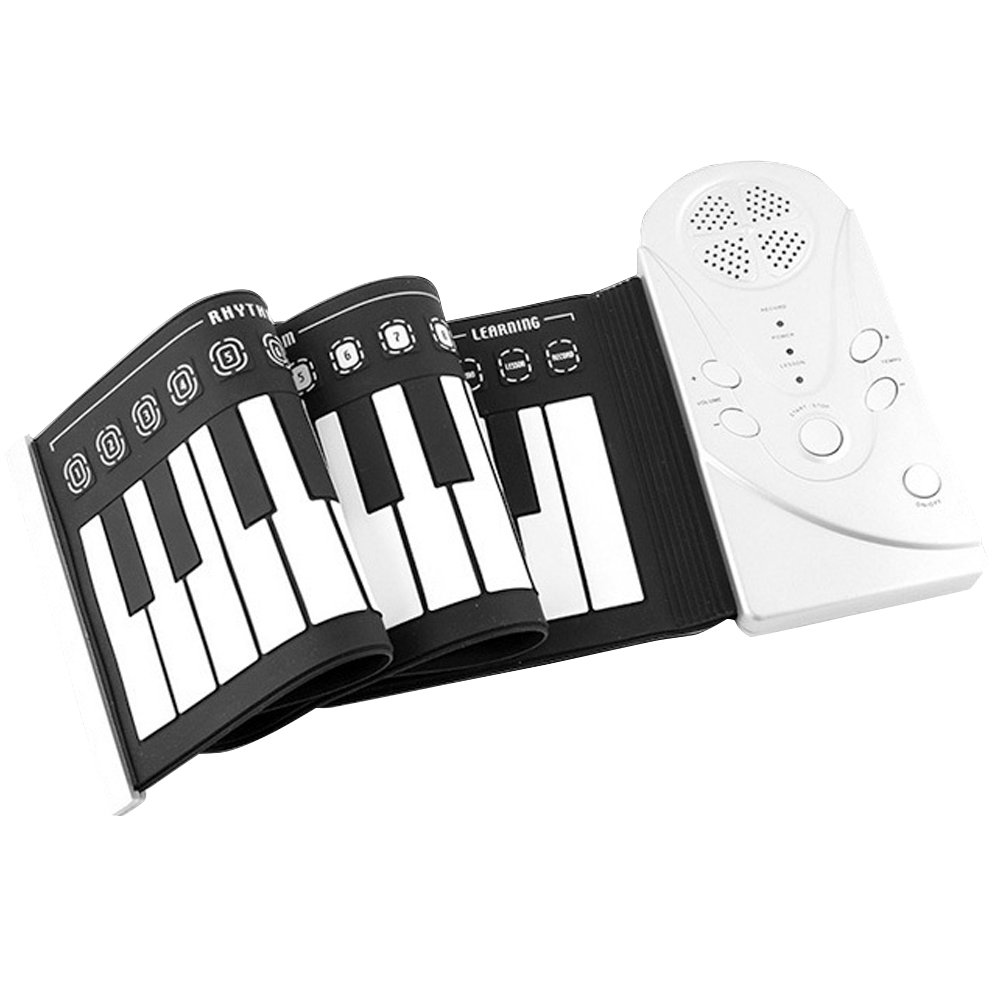 E Support™ Portable Electronic Piano Keyboard with Full 49 Soft Responsive Keys Silicone Rubber Keyboard Soft Roll Up Piano by E Support (Image #1)