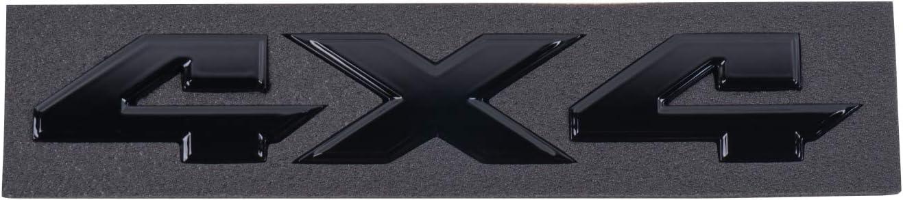 Gloss Black ROZEE 4x4 Emblem Door Badge 3D Decals for Silverado Dodge RAM 1500 2500 Jeep Cherokee