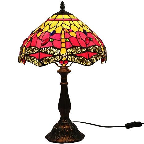 FABAKIRA Lámpara de Mesa 12 Pulgadas Estilo de Tiffany ...