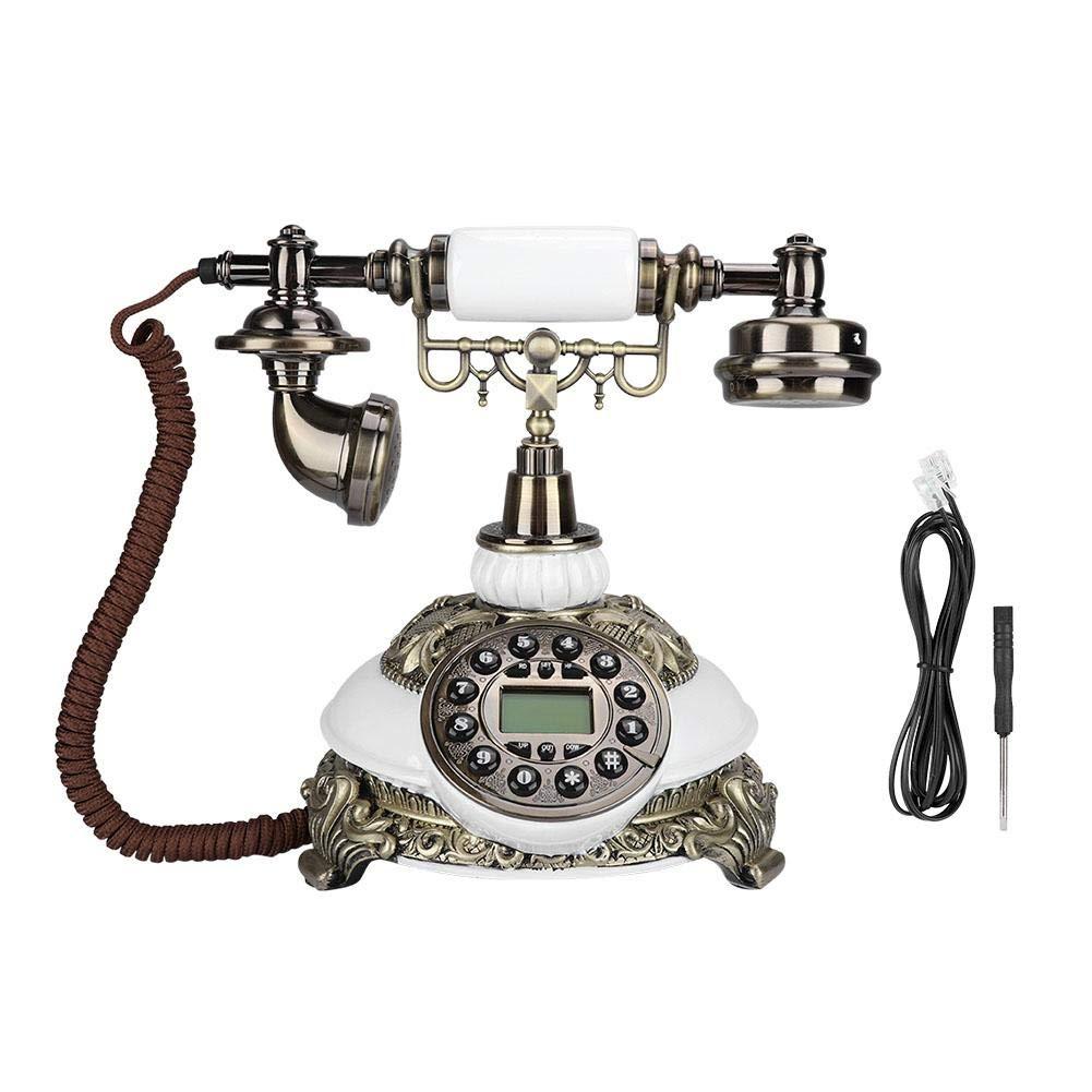 tel/éfonos fijos Retros a la Antigua para el hogar y la decoraci/ón Tel/éfono para el hogar y la Oficina tel/éfonos fijos Retros a la Antigua Tangxi Tel/éfono rotatorio Antiguo