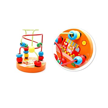 Farbenfroher Baby Kinder Mini-Holz-Perlen Educational Spielzeug Bead ...