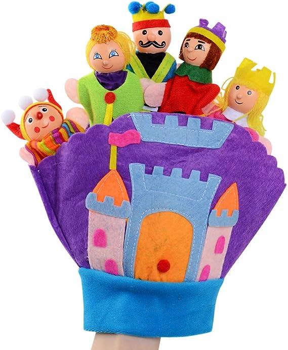 Happy cherry - Guantes de Títeres de Mano de Cuentos de Dibujos Animados Lindos para Bebés Niños Juguete Marionetas de Dedos de Muñecos Colorido - Castillo: Amazon.es: Juguetes y juegos
