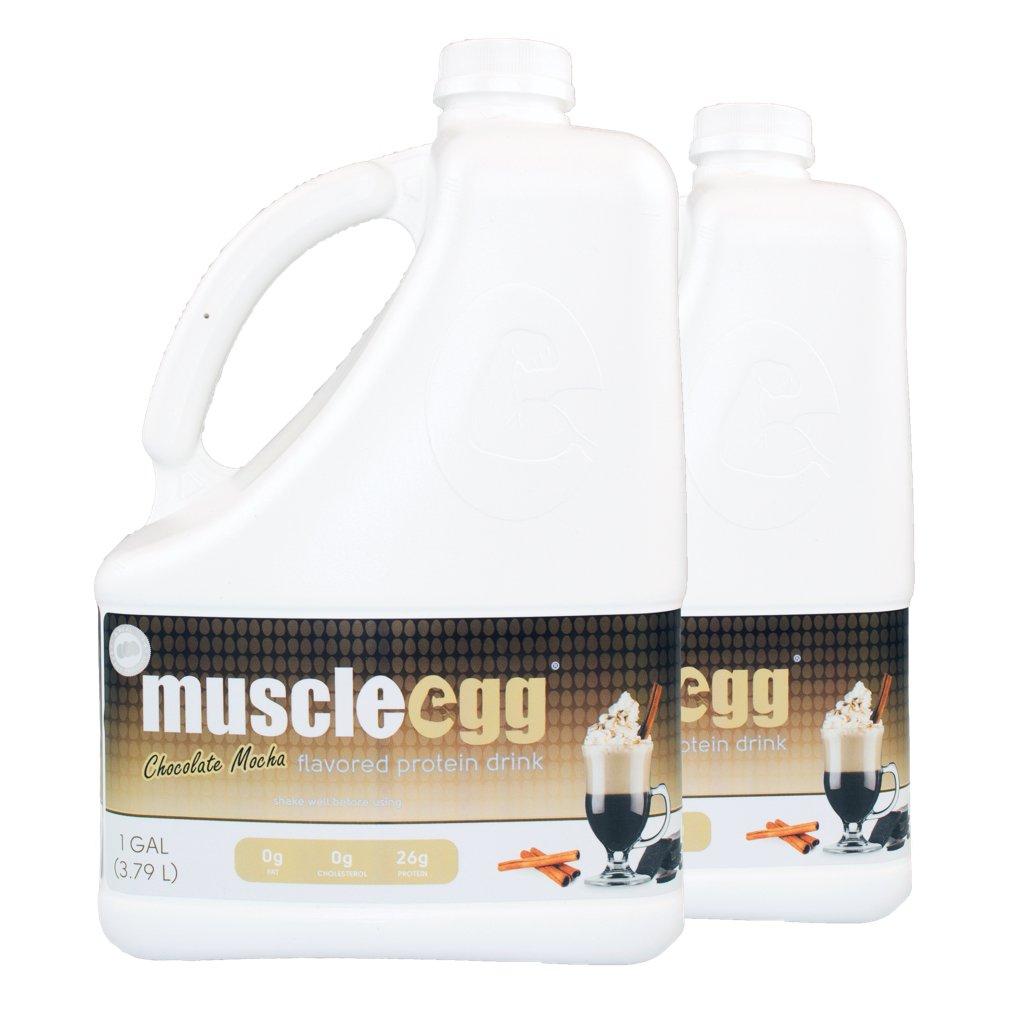 MuscleEgg Chocolate Mocha Liquid Egg Whites Protein - 2 Gallons
