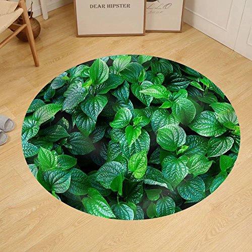Gzhihine Custom round floor mat Material. Thai Medicinal Plants.(Piper Sarmentosum Roxb.) by Gzhihine