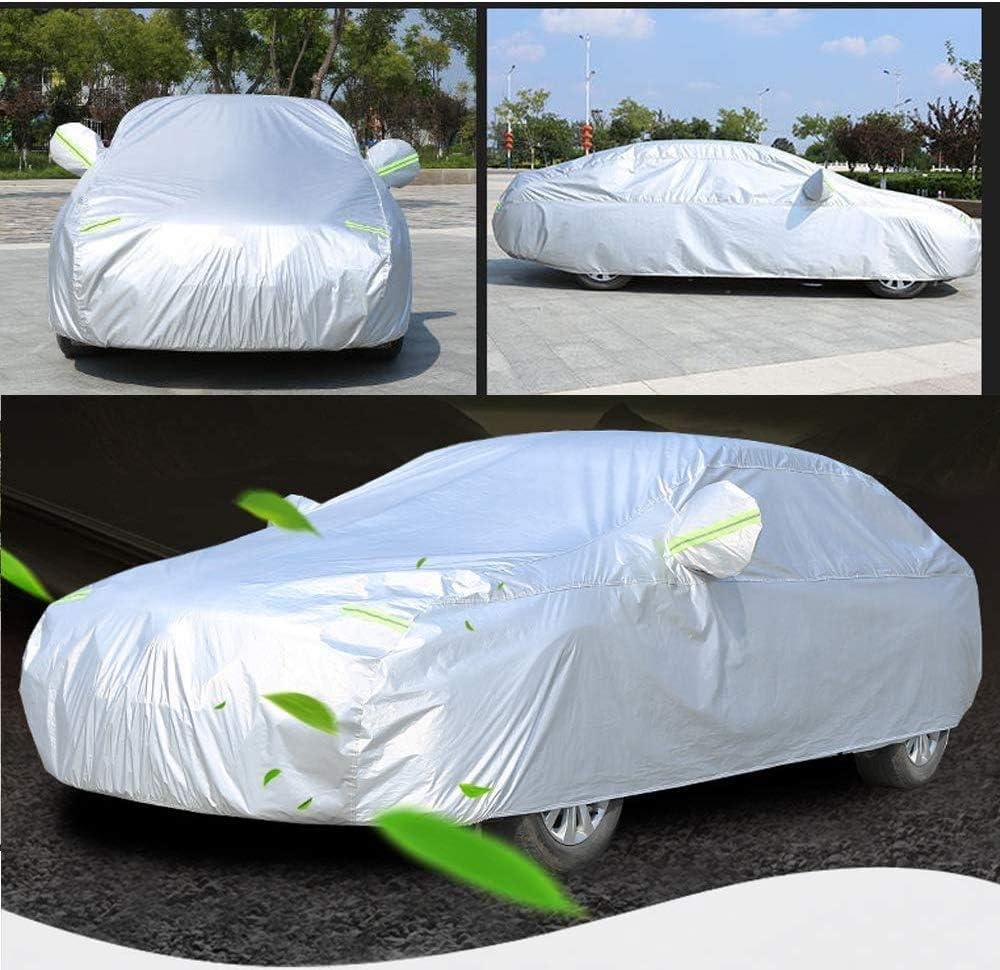 4.85 * 1.85 * 1.5M Sailnovo Copriauto Telo Copriauto Auto Impermeabile 170T Argento Contro Il Sole Polvere di Neve Vento Dimensione Universale